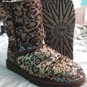 Leopard print UGGs